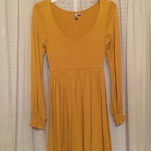 ASOS Mustard long sleeve dress size 4